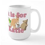 K is for Katie Large Mug