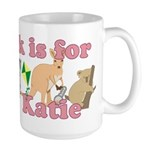 K is for Katie Large Mug
