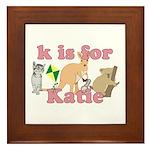 K is for Katie Framed Tile