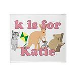 K is for Katie Throw Blanket