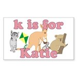K is for Katie Sticker (Rectangle 10 pk)