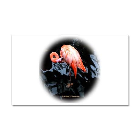 Pink Flamingo Car Magnet 20 x 12