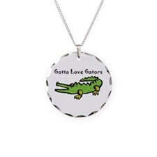 Gotta Love Gators Necklace Circle Charm