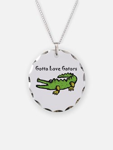 Gotta Love Gators Necklace Circle Charm