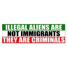 Illegal Means Criminal Bumper Bumper Sticker