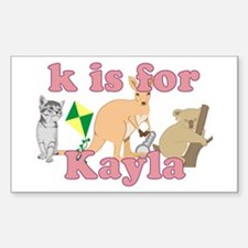 K is for Kayla Decal