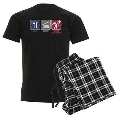 Eat Sleep Hunt Zombies Men's Dark Pajamas
