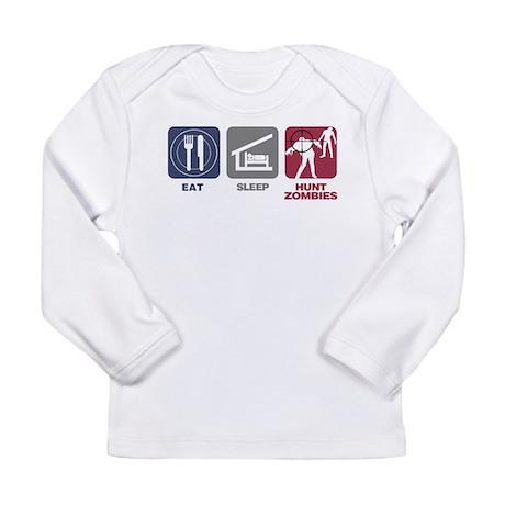 Eat Sleep Hunt Zombies Long Sleeve Infant T-Shirt