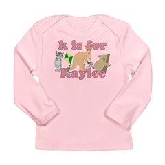 K is for Kaylee Long Sleeve Infant T-Shirt