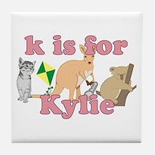 K is for Kylie Tile Coaster