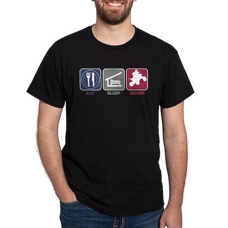Eat Sleep Quads Dark T-Shirt