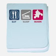 Eat Sleep Quads baby blanket