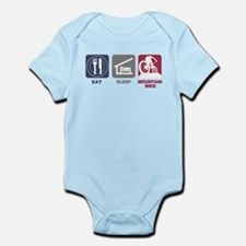 Eat Sleep Mountain Bike Infant Bodysuit