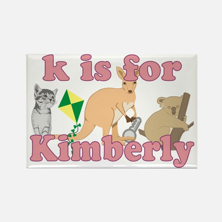 K is for Kimberly Rectangle Magnet