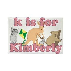 K is for Kimberly Rectangle Magnet (100 pack)