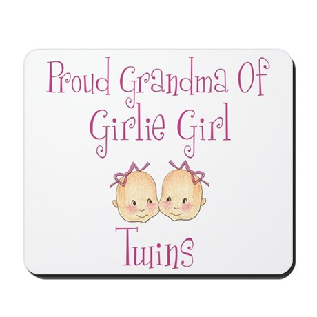 Proud Grandma of Girl Twins Mousepad