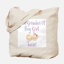 Proud Grandma of Boy Girl Twi Tote Bag