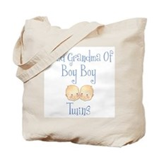 Proud Grandma of Boy Twins Tote Bag