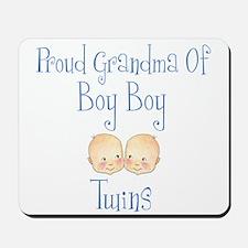 Proud Grandma of Boy Twins Mousepad
