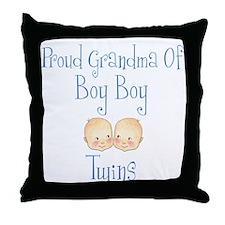 Proud Grandma of Boy Twins Throw Pillow