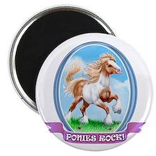 Ponies Rock Magnet