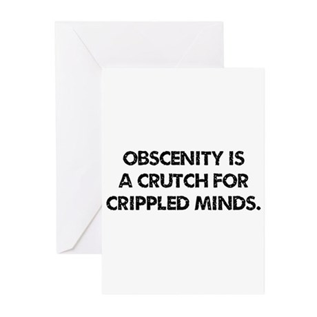 Obscenity is a crutch Greeting Cards (Pk of 10)