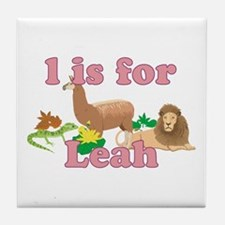 L is for Leah Tile Coaster