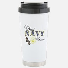 Proud Navy Fiancee Stainless Steel Travel Mug
