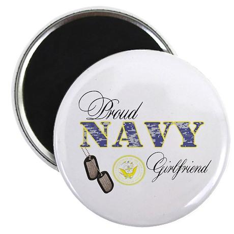 "Proud Navy Girlfriend 2.25"" Magnet (100 pack)"