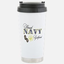 Proud Navy Girlfriend Stainless Steel Travel Mug