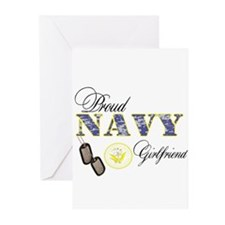 Proud Navy Girlfriend Greeting Cards (Pk of 10)