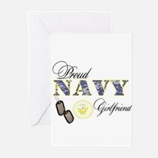 Proud Navy Girlfriend Greeting Cards (Pk of 10)