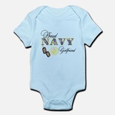 Proud Navy Girlfriend Infant Bodysuit