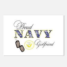 Proud Navy Girlfriend Postcards (Package of 8)
