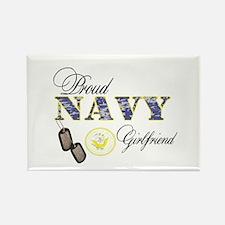 Proud Navy Girlfriend Rectangle Magnet