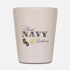 Proud Navy Girlfriend Shot Glass