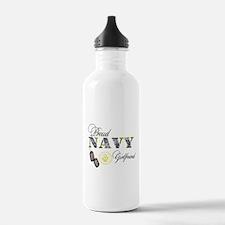 Proud Navy Girlfriend Water Bottle