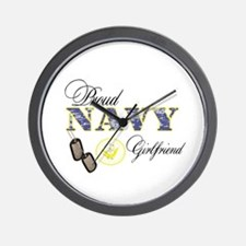 Proud Navy Girlfriend Wall Clock