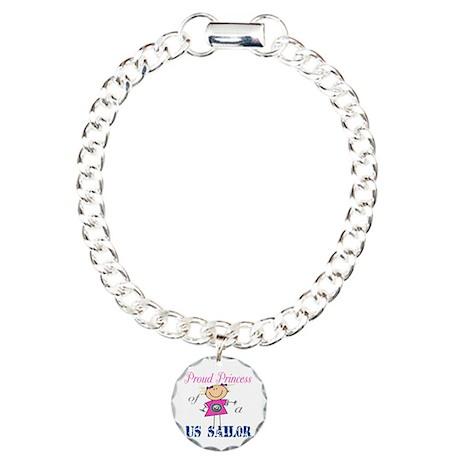 Proud Princess of Sailor Charm Bracelet, One Charm