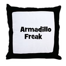 Armadillo Freak Throw Pillow