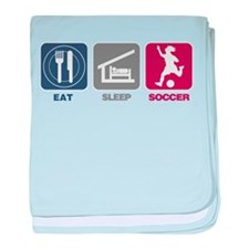 Eat Sleep Soccer - Woman baby blanket
