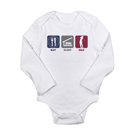 Eat Sleep Golf - Man Long Sleeve Infant Bodysuit