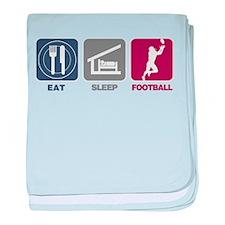 Eat Sleep Football baby blanket