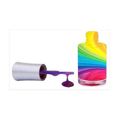 Rainbow Nail Polish 38.5 x 24.5 Wall Peel