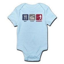 Eat Sleep Baseball Infant Bodysuit