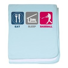 Eat Sleep Baseball baby blanket