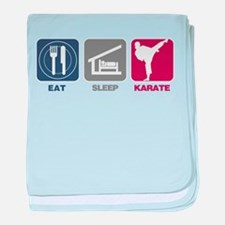Eat Sleep Women's Karate baby blanket