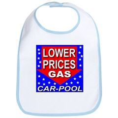 Lower Gas Prices Car-Pool Bib