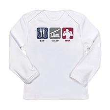Eat Sleep MMA Long Sleeve Infant T-Shirt