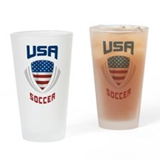 Soccer Crest USA blue Pint Glass